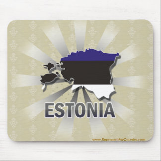 Estonia Flag Map 2.0 Mouse Pad