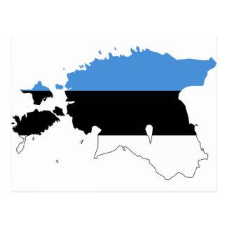 Estonia Flag map EE Postcard