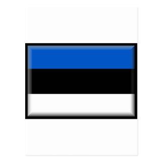 Estonia Flag Postcard