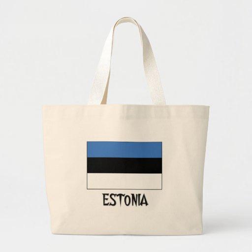 Estonia Flag Tote Bags