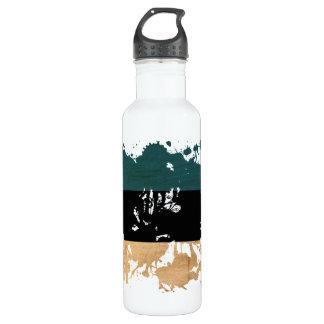 Estonia Flag Water Bottle