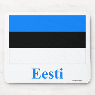 Estonia Flag with Name in Estonian Mouse Pads