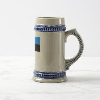 Estonia Flag with Name Mugs