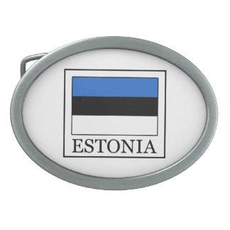 Estonia Hebilla Cinturon Oval