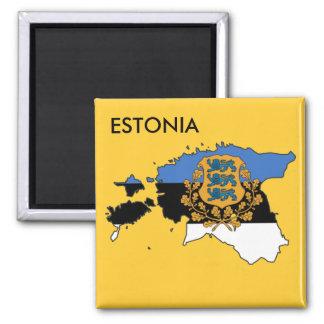 Estonia Magnet! 2 Inch Square Magnet