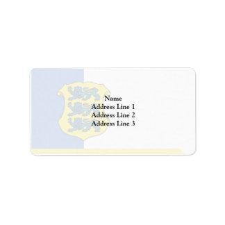 Estonia - Major General, Estonia Address Label