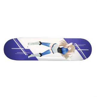 Estonia Manga girl dressed in Flag Skateboard
