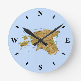 Estonia Map Clock