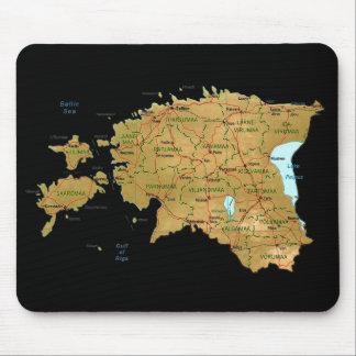 Estonia Map Mousepad