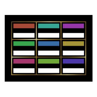 Estonia Multihue Flags Postcard