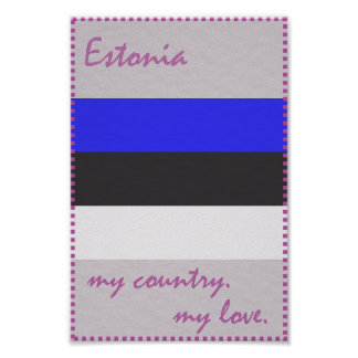 Estonia My Love My Country Poster