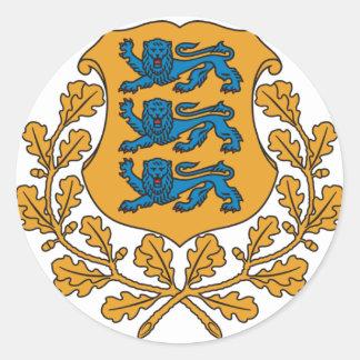 Estonia Pegatina Redonda