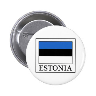 Estonia Pin Redondo De 2 Pulgadas