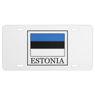 Estonia Placa De Matrícula