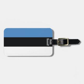 Estonia Plain Flag Luggage Tag