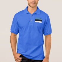 Estonia Plain Flag Polo Shirt
