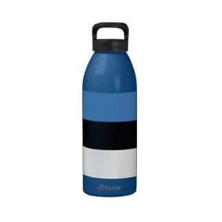 Estonia Plain Flag Drinking Bottles