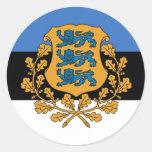 Estonia presidencial, Estonia Pegatina Redonda