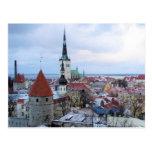 Estonia Skyline Postcard