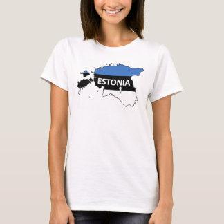 ESTONIA T-Shirt. Blue-Black-White. Eesti lipp T-Shirt