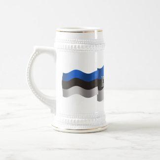 Estonia Waving Flag Beer Stein
