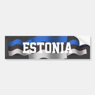 Estonia Waving Flag Bumper Sticker