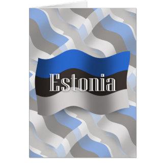 Estonia Waving Flag Card
