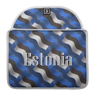 Estonia Waving Flag Sleeve For MacBooks
