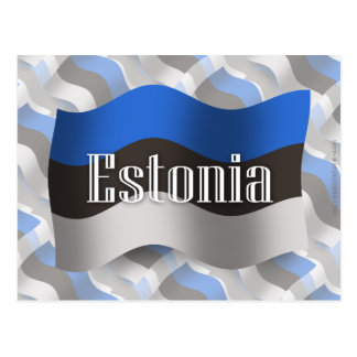 Estonia Waving Flag Postcard