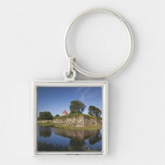 Estonia, Western Estonia Islands, Saaremaa 2 Silver-Colored Square Keychain