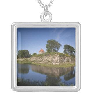 Estonia, Western Estonia Islands, Saaremaa 2 Square Pendant Necklace