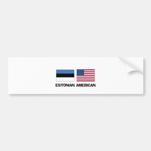 Estonian American Car Bumper Sticker