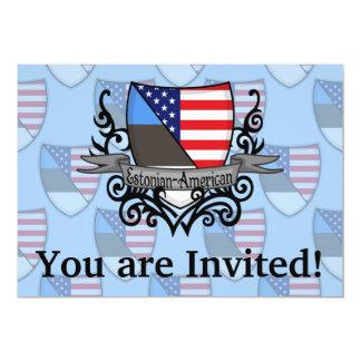 Estonian-American Shield Flag Card