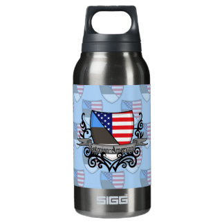 Estonian-American Shield Flag Insulated Water Bottle