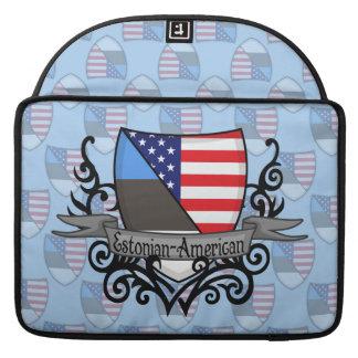 Estonian-American Shield Flag MacBook Pro Sleeve