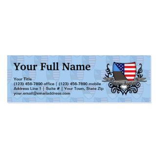 Estonian-American Shield Flag Mini Business Card