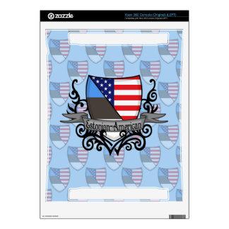 Estonian-American Shield Flag Skin For Xbox 360