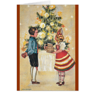 Estonian Boy + Girl Christmas Card