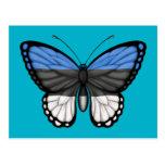 Estonian Butterfly Flag Postcard