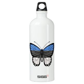 Estonian Butterfly Flag Water Bottle