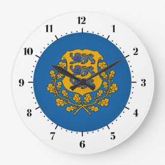 Estonian coat of arms large clock