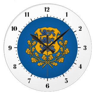 Estonian coat of arms large clock