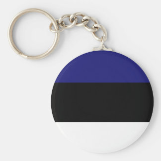 Estonian Flag T-shirts and Gifts Basic Round Button Keychain
