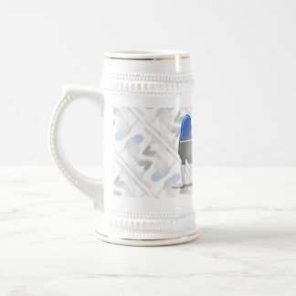 Estonian Girl Silhouette Flag Beer Stein