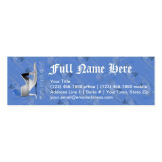 Estonian Girl Silhouette Flag Mini Business Card
