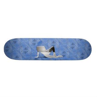 Estonian Girl Silhouette Flag Skate Deck