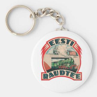 Estonian Railroad Keychain
