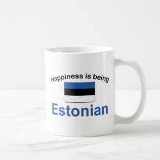 Estonio feliz taza