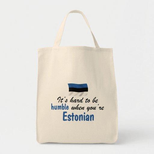 Estonio humilde bolsa tela para la compra