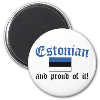Estonio orgulloso imán redondo 5 cm